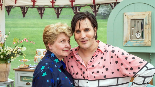 Noel Fielding and Sandi Toksvig