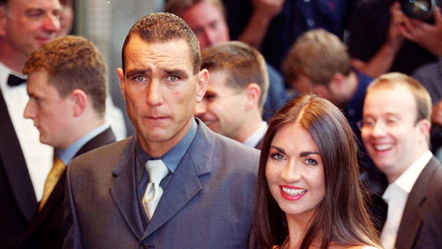 Vinnie Jones and his wife Tanya